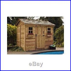 Lady Lounge She Shed Cabana Woman Cave 9 Ft. W x 6 Ft. D Wood Flooring Included