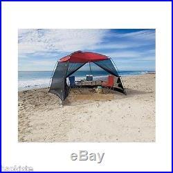Large Beach Tent Smart Sun Shade 10' X 10' Screen house Camping Outdoor Patio