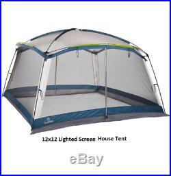 Lighted Screen House 12 ft x 12 ft Camping Pic Nic Backyard Lake Beach RV Park