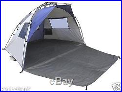 Lightspeed Outdoors Quick Cabana Beach Tent Sun Shelter Blue USED