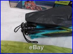 Lightspeed Outdoors Seaside Quick Pop Up Sun Shelter Tent, Navy Blue/Light Blue
