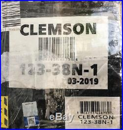 Logo Brands Pagoda Canopy NCAA Football Clemson 12'x12' with 1 Shade Wall FS