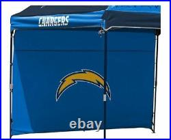 Los Angeles Chargers NFL 10' X 10' Dome Tailgate Party Canopy Logo Wall Tent Bag