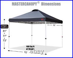 MASTERCANOPY Pop-up Canopy Tent Commercial Instant Canopy with Wheeled Sandbags