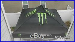 MONSTER ENERGY CIRCUIT TENT-100% HARDLY EVER USED / NEW COND. 10'X10'- RARE