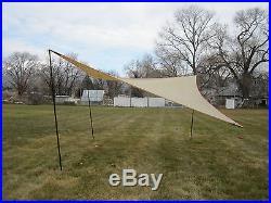 MSR 19' Parawing Tarp Shade Canopy Tent Shelter with 3 Poles MOSS Dana RARE