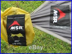 MSR Zing Shelter 6.5Lbs WING STYLE 6-12Person CANOPY Backpack Rafting TENT moss