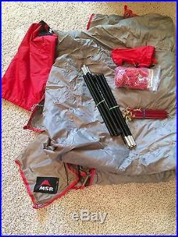 MSR wing camping tarp