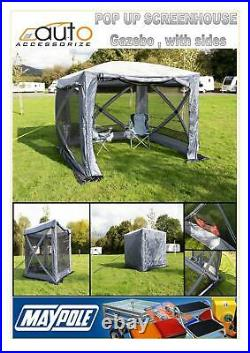 Maypole Pop Up Screenhouse, Gazebo, Shelter With Sides And Pegs MP9517