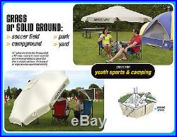 Morshade 360 Portable Shade Canopy Umbrella 9 Foot with Multiple Base Attachment