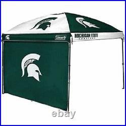 NCAA COLEMAN 10' X 10' DOME CANOPY WithWALL, MICHIGAN STATE DISTRESSED PKG