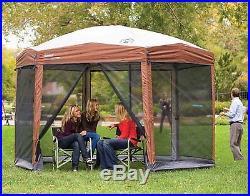 NEW Coleman 12 x 10 Portable Screened Canopy Sun Screen Camping Backyard Tent