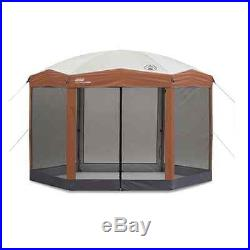 NEW! Coleman 12x10 Hex Instant Screened Shelter with Wheeled Carry Bag Party