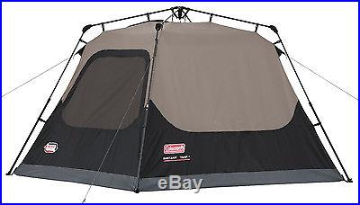 NEW! Coleman 4-Person Instant Tent fits One Queen Airbed (1 Minute Easy Setup)