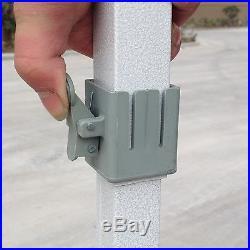 NEW EURMAX 10 X 10 EZ POP SET UP CANOPY TENT GAZEBO With 4 WALLS WHITE