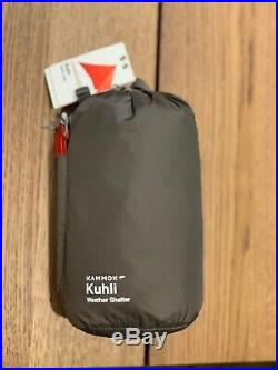NEW Kammok Kuhli weatherproof & knotless versatile camping tarp (Grantie Gray)