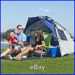 NEW Lightspeed Outdoors Quick Cabana Beach Tent Sun Shelter Blue FREE SHIPPING