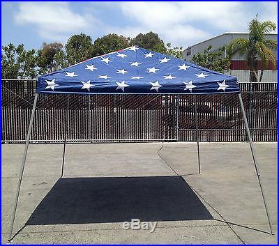NIB ON SALE! 10'x10' Pop Up Stars & Stripes Canopy w/ Powder Coated Steel Poles