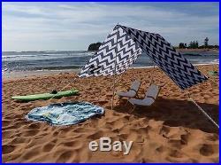 New Caribee Long Reef Beach Shade Polyester Aluminium Awning Sunscreen Shelter