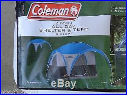 New Coleman Transformer 2 person 2 for 1 All Day Shelter & Tent 10 x 10