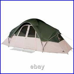 New Ozark Trail 8-Person 2-Room Modified Dome Tent, Fits 2 Queens Free Shipping
