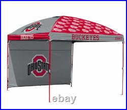 Ohio State Buckeyes NCAA 10' x 10' Dome Tailgate Party Canopy Tent Logo with Wall