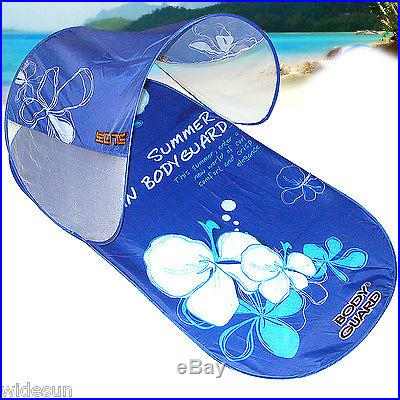 One-touch Portable Sun Shade Beach Tent, Canopy Pop Up Camping Sun Shelter Tent