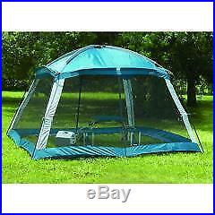 Outdoor Camping Instant Screen Arbor Shade Canopy Tent, Bug Protection Blue