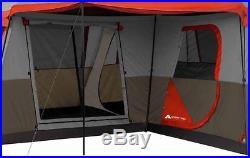 Outdoor Camping Tent 3-Room 16 x 16 Easy Setup Sleeps 12 Ozark Trail