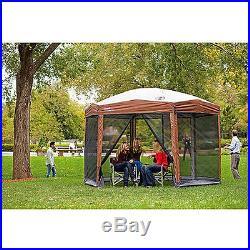 Outdoor Canopy Gazebo Camping Tent Relax House Patio Garden Hexagon Sunshade New