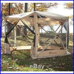 Outdoor Gazebo 6 Side Portable Screen Tent Camping Patio Canopy Garden Sun Shade