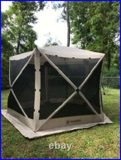 Outdoor Portable Screen House 4 Person Shelter Gazebo 5 Sided Quick Set-up Camp