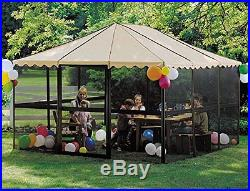 Outdoor Screen House Patio Enclosure Shelter Gazebo Tent Sun Room Canopy Square
