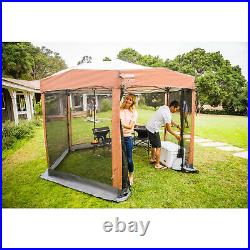 Outdoor Screen House Screened Canopy Instant Sun Shade 12 x 10 Ft 6 Sided Tent
