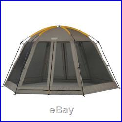 Outdoor Screen Tent 14' x 12' Mesh Screen House Camping Canopy Brown