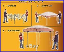 Outdoor Tent Gazebo Screened Canopy Instant Shelter 12x10 Camping Backyard Beach