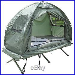 Outsunny Portable Tent/Camping Cot with Air Mattress&Sleeping Bag B2-0006 Green
