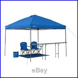 Ozark Trail 10'x10' Lighted Tailgate Instant Canopy Combo, Blue