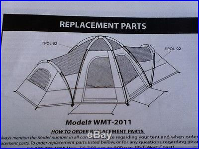 Ozark Trail 2 Room Hex Locker Dome Tent