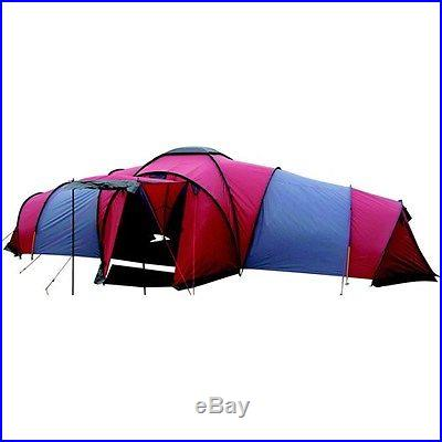 Ozark Trail Tundra Plus 25.6 x 20 ft 3 Room 9 Person Family Camping Dome Tent