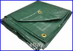 PVC Vinyl Cover Waterproof UV Resistant Heavy Duty Vinyl Tarp 13oz 18 Mil GREEN