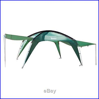Paha Que Cottonwood XLT 10x10 Green Portable Shade Shelter W/ Awnings