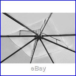 Patio 10' X 13' Outdoor Garden Rattan & Wicker Gazebo Canopy Cream White Roof