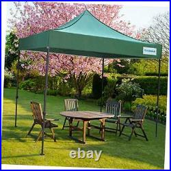 Pop Up Canopy, 10' x 10' Outdoor Canopy, Portable Folding Canopies with green