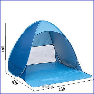 Portable Pop Up Cabana Beach Shelter Infant Sand Tent Sun Shade Outdoor UV Blue