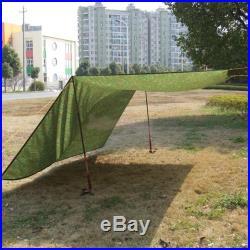 Portable Waterproof Camouflage Camping Tarp Tent Sun Shade Rain Shelter USA