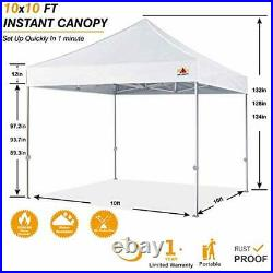 Premium Pop Up Canopy Tent 10x10 Commercial Instant Shelter, Bonus Wheeled