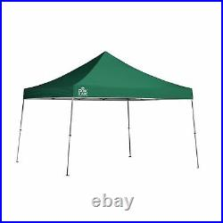 QS WE144 12x12 STRAIGHT LEG CANOPY, GREEN COVER, SILVER FRAME