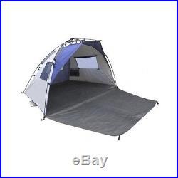 Quick Cabana Beach Tent Lightspeed Outdoor Sun Shelter Blue Sports Games Camping