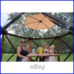 Quick Set 12874 Escape Sky Camper Portable Outdoor Gazebo Canopy Shelter, Brown